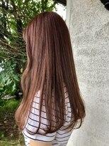 ヘア プロデュース キュオン(hair produce CUEON.)long × pink beige