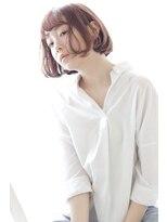 ヘアリゾート ブーケ(hair+resort bouquet)コンパクトボブ×ハイライトカラー【前髪カタログ】