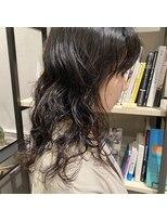 フェン ヘアーアイス(Fen.hair ici)ニュアンスパーマ ロング 黒髪