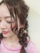ニコ ヘアーアンドメイク(nico hair&make)nico 四編みアレンジ summer