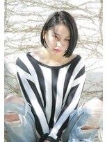 ロンド レグリーズ 立川(Lond leglise)【槌矢圭悟】黒髪/ダークカラー/前下がりボブ/ボブ/センター