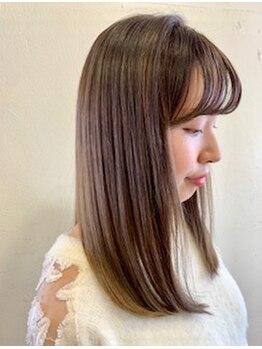 アンヴィ(an-vi)の写真/1人1人の髪質に合わせた薬剤選定でダメージを軽減!悩みを解消しながら叶える、滑らかなサラ艶ストレート☆