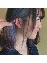 ヘアー コパイン(HAIR COPAIN)[熊本/中央区/上通り/並木坂] インナーカラー☆シルバーブルー