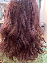 ネウィ グランデ 横浜(newi grande)派手髪 シースルー ラベンダー 透け感 暖色系カラー 艶カラー