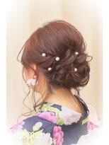 ヘアセットサロン パスクア(Hair Set Salon Pasqua)浴衣ルーズシニヨン