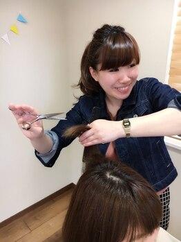 モイヘアーデザイン(moi hair design)の写真/【4席/女性スタイリストのみ】Staffは実力派女性スタイリストだけ!最初から仕上げまでマンツーマンで対応♪