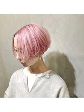 イニヘアデザインワークス(inni hair design works)【奈良/inni hair】グラデーションボブ ベイビーピンク