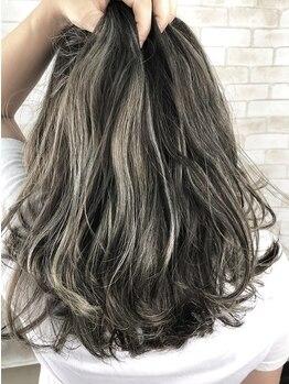 ヘアールーム クリア(hair room clear)の写真/人気のケアブリーチを使ったハイライト/グラデ/バレイヤージュ/Wカラーならダメージレスでカラーができる◎