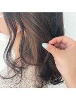 サラ ビューティー サイト 古賀店(SARA Beauty Sight)グレージュ×ベージュイヤリングカラー