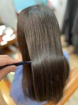 """アヤメ(ayame)の写真/他とは一味違う艶髪""""ayame式髪質改善""""癖が気になる方にお勧めの""""弱酸性縮毛矯正""""でみんなが羨む艶髪へ♪"""