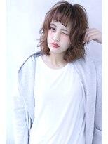 【Blanc】フェザーボブ×ベビーバング