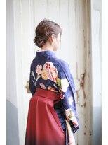 編み込みアレンジ+袴スタイル♪