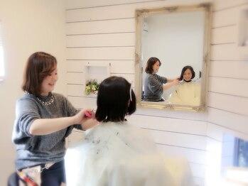 プライマリー(PRIMARY)の写真/【イオン倉敷近く】シャンプーもカットも全室個室。女性の美しさを引き立てるデザイン性が大好評