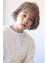 【soy-kufu】シースルー前髪 ブロンドボブ