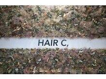 ヘアーシー(HAIR C,)の雰囲気(受付にはかわいいドライフラワー)