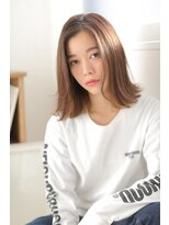 ジーナシンジュク(Zina SHINJYUKU)☆Zina☆スタイリングの楽な外ハネミディ♪