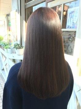 エールセット(eile set)の写真/【南行徳】炭酸泉付☆髪・頭皮の汚れを落としてからの施術だから、根元のクセ・うねりもしっかり伸びる!
