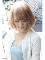 ベイジヘアークチュール(BEIGE hair couture)ミルクティーシンプルボブ