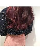 アリーズヘアー 青山(allys hair)ピンクグレージュ グラデーションカラー ヴェールウェーブ