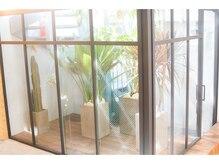ベイルーム(BAYROOM by HONEY omotesando)の雰囲気(地下でも吹き抜けの中庭があるから開放感も◎グリーンがオシャレ)