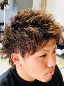 イーズヘアー(Eaze Hair)の写真/【メンズ専門サロン/佐賀大学近く】眉を変えるだけでお顔の印象も!ヘアスタイルと共にワンランク上の男前に