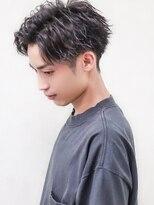 センターパートショートマッシュ短髪パーマID@kousuke.kido