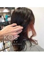ケーオーエスビューティー(K O S beauty)インナーカラー ピンクレッド
