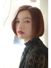 ビッケ(Vicke)【Vicke渋谷】サニーオレンジ前下がりショートボブ
