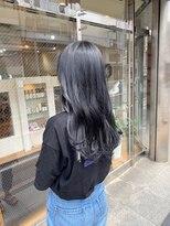 ロイ(roy)☆濃厚ブルーブラックカラー☆#アッシュ#ブルージュ
