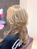 ヘアーメイク リボーン ムーヴ(hair make re:bbon move)ダブルカラー×プラチナブロンド