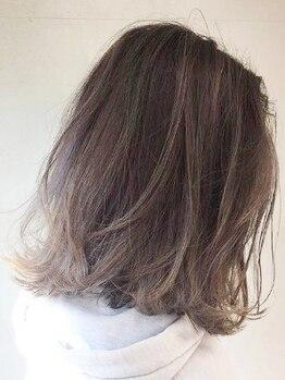 ヘアー バイ ミーズ(hair by Mii's)の写真/【柳生】肌が明るくキレイにみえる[美肌カラー]&美髪効果絶大50%トリートメント配合[生ホイップカラー]♪