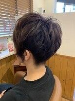 テトラ ヘアー(TETRA hair)2ブロックアシメパーマ