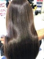 プラウド髪質改善カラー☆40代の髪が20代のサラサラヘアに