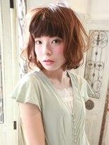 髪質改善と縮毛矯正の専門店 サンティエ(scintiller)ゆるふわパーマのフェミニンボブスタイル