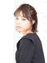 アース 南福島店(HAIR&MAKE EARTH)カチューシャ風編み込みアレンジ
