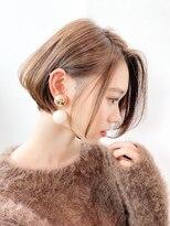 ノット(Knot)【knot阿部展大】シルエット大人かわいい丸みショートボブ