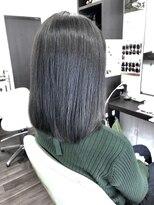 ヴィオレッタ ヘアアンドスペース(VIOLETTA hair&space)ブルージュ×暗髪透明感×ボブ
