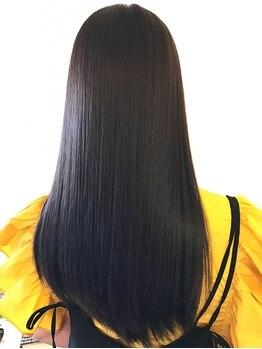 """ハレ ヘアー デザイン(HALE hair design)の写真/HALEのナチュラルストレートは""""クセはしっかり伸びて柔らかい仕上がりになる""""と好評!!リピート率90%以上"""