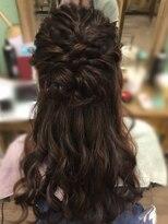 ヘアセットサロン アトリエ チャイ(Hair set salon atelier CHAI)ねじふわハーフアップ