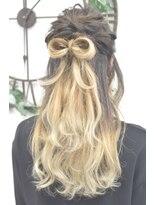 ヘアーサロン エール 原宿(hair salon ailes)(ailes 原宿)style340 お呼ばれヘア☆リボンハーフアップ