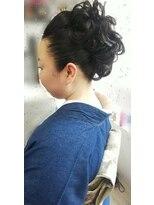ヘアーアンドメイクサロン ハナココ(hair&make salon hana Coco)モヒカン風にアップスタイル 着物 イベント ライブ  水戸