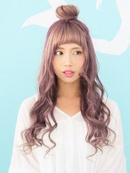 マーメイドヘアー(mermaid hair)の写真/透明感のある外国人風カラーからビビッドな派手髪まで幅広く対応☆次世代ヘアカラーであなたの個性を表現♪
