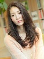 ジーナハーバー(JEANA HARBOR)大人かわいいヌーディーカラー美髪ツルツルロング