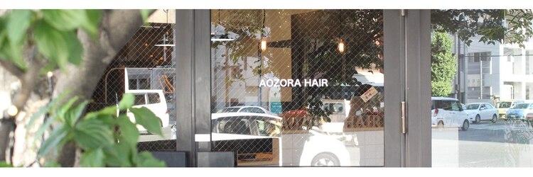 アオゾラヘアー フジサキグウ(AOZORA HAIR FUJISAKIGU)のサロンヘッダー