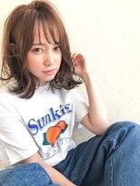 【kate】大宮 シースルーバング×オレンジベージュ