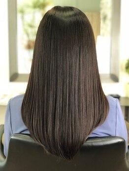 ムー(moo.)の写真/【矢場町】髪のまとまりの良さに感動『髪質改善ストレートエステ』広がりやすい髪もサラふわstyleが持続