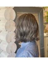 クレエ ヘアー デザイン(creer hair design)透明感グレージュ
