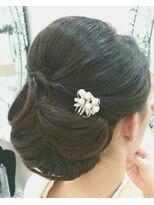 桜GINZA 2和髪シニオンアレンジ