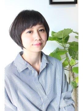 オリガミ ヘアーアンドビューティ 南前川店(ORIGAMI Hair&Beauty)【ORIGAMI】ナチュラルショートボブ×斜めバング