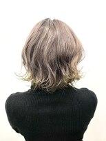 エトネ ヘアーサロン 仙台駅前(eTONe hair salon)【eTONe】25歳からの大人裾カラー☆グレージュ×イエロー